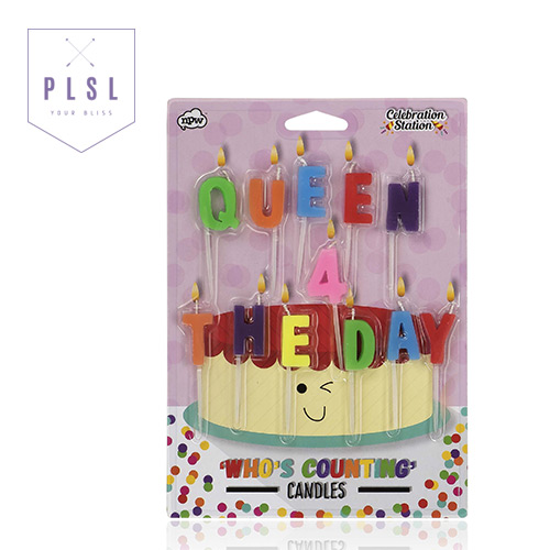 [PLAY PLSL] QUEEN 4 THE DAY 알파벳 생일 축하 초 CANDLES